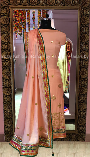 Beautiful salwar suit on pure satin georgette