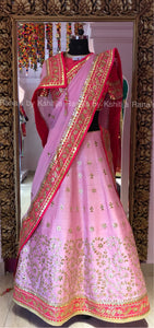 Perfect pink and peach lehenga
