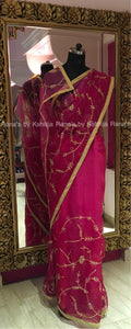 Delciate Organza Saree in Pretty Jaal Work