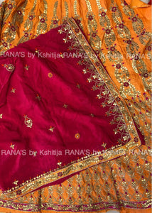 Rich ribbon, gota, zardozi worked wedding lehenga