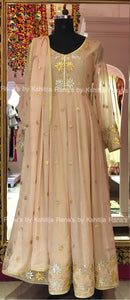An exquisite lotus designer floor length dress