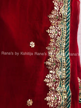 Finest gota worked sarees in pretty red color