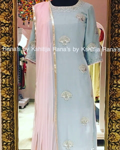 Powder blue salwar suit