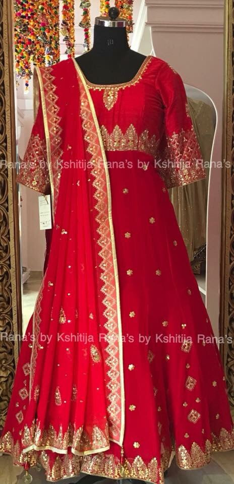 Aari worked rich Anarkali dress
