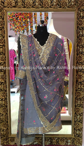Pretty Ribbon and Gota worked salwar suit - Rana's by Kshitija