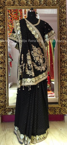 Beautiful Bold Black Saree