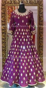 Glamorous mirror worked pretty floor length dress