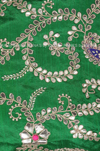 Gota Patti Salwar Suit with Leheriya Dupatta
