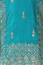 Blue Rich Aari Handworked Salwar Suit