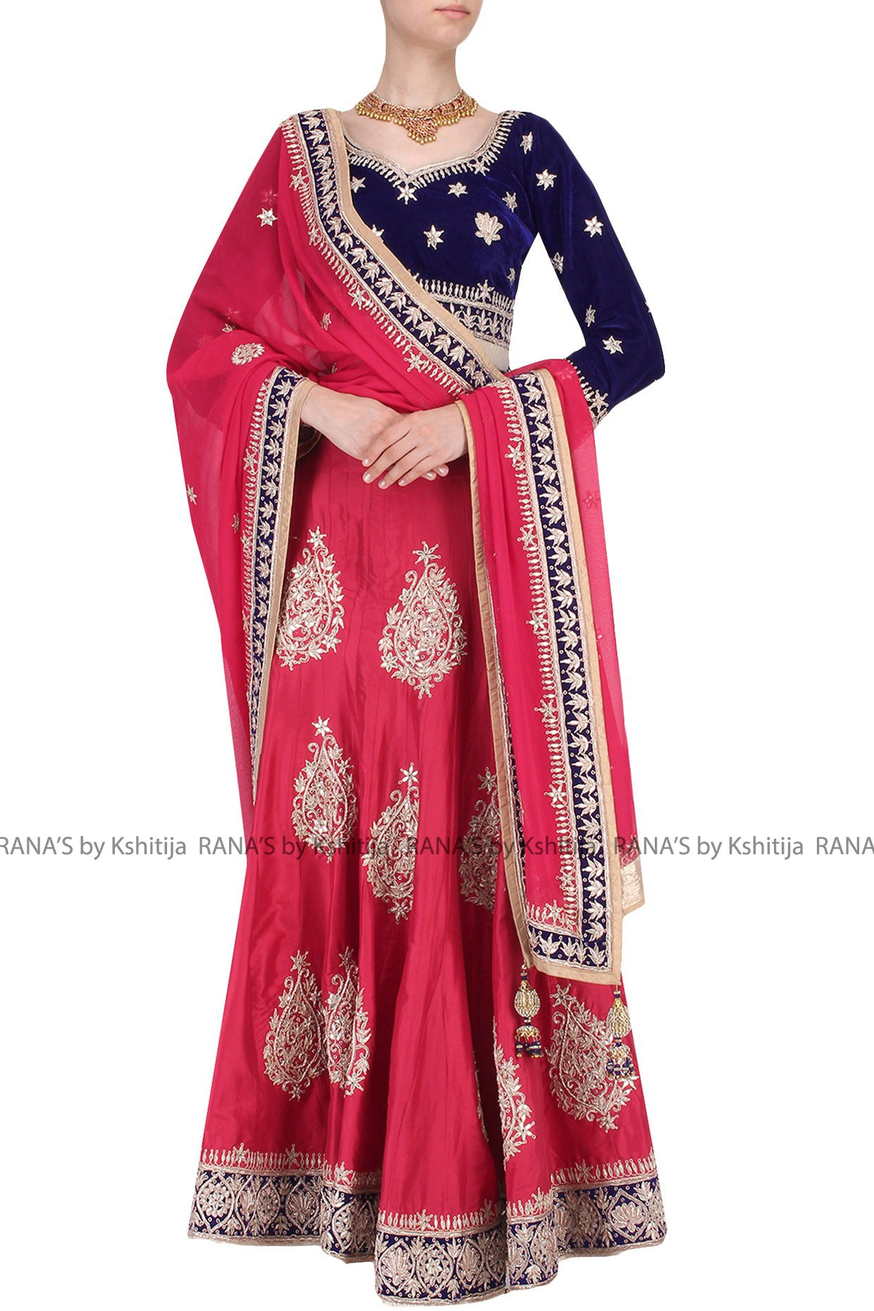 ranas-by-kshitija-red-gota-embroidered-lehenga-set