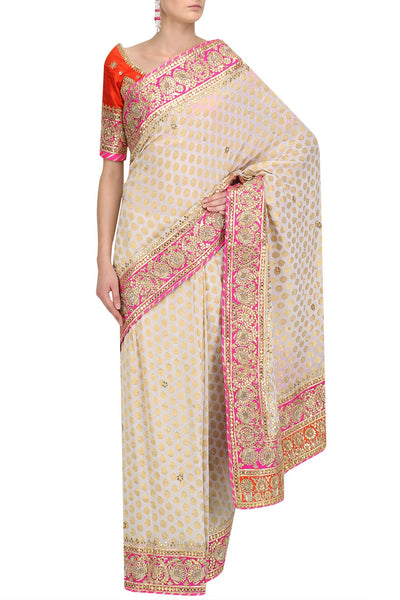White Royal Banarsi Saree