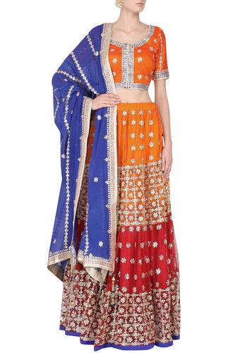 ranas-by-kshitija-layered-red-and-orange-rich-gota-lehenga