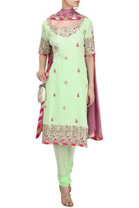 Ribbon and Gota Patti Work Salwar Suit