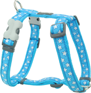 Stars White on Turquoise Harness