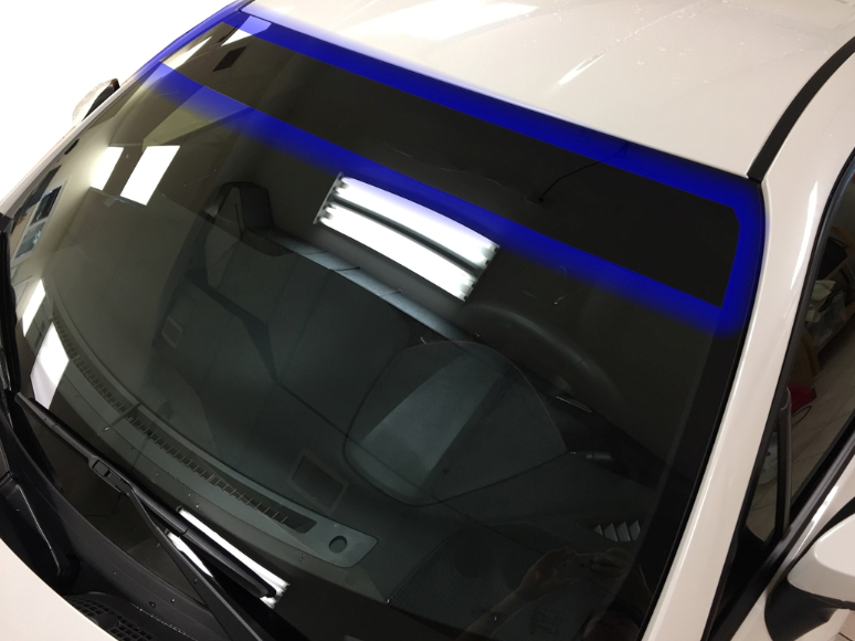 Universal Fit Size Precut Curved Sun Strip window tint - Lexen Auto