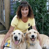 Barbara Noll TailBanger's Pet Resort Service Dogs Hunter and Lily
