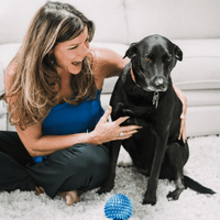 Co-founder Pet Perennials and her Labrador Retriever Harley