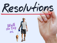 New Year Resolutions Accountability Partner - The Dog