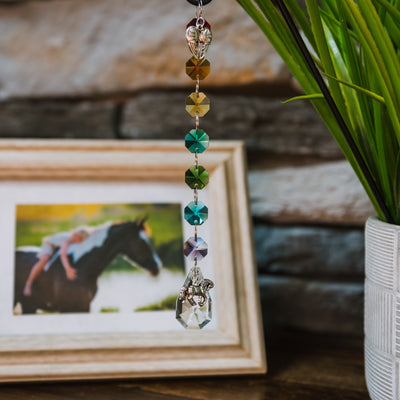 Crystal Rainbow Suncatcher: Horse Memorial Keepsake - Pet Perennials