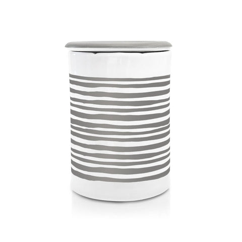 Happy Wax - Classic Scented Wax Warmer - Gray Stripe