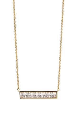 RACHAEL RYEN Full Baguette Bar Necklace