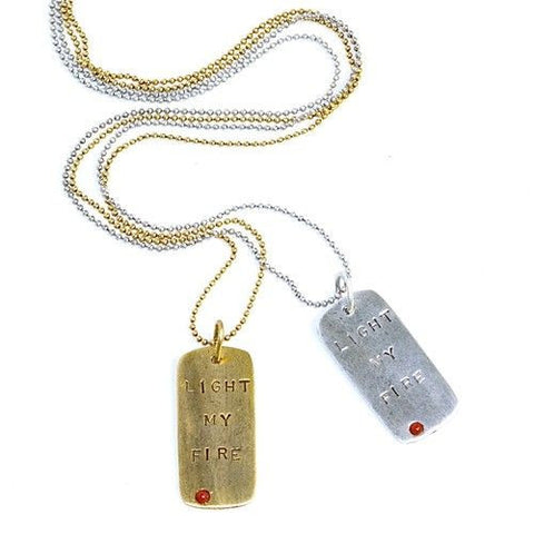 MELVIN 'Tuned In' Song Title Dog Tag Pendant