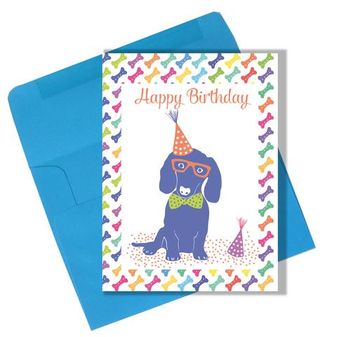 "Lili Graffiti ""Superdog"" Happy Birthday Greeting Card"
