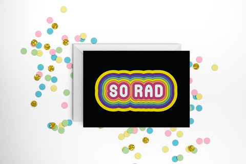 Fun Club - So Rad Greeting Card