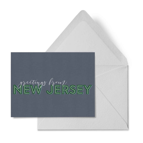 Otto & Berk - Greetings From New Jersey - State Greetings Card
