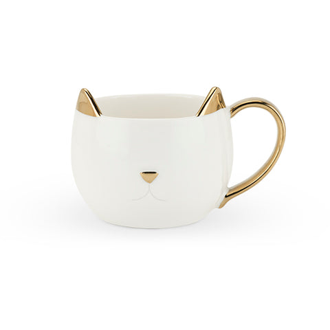 Pinky Up - Chloe White Cat Mug