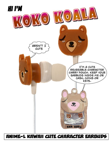 Fydelity - Koko Koala Kawaii Stuff Ear Buds