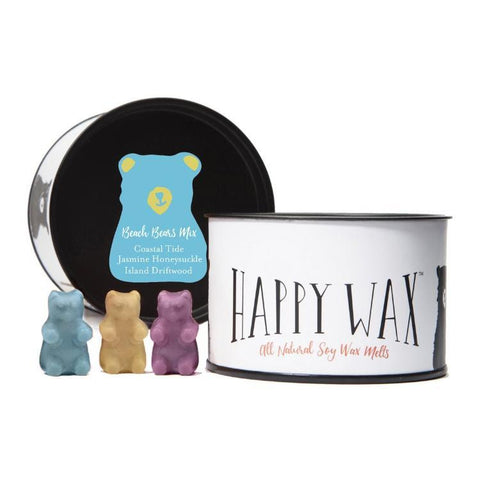 Happy Wax - Classic Tin - Beach Bear Mix Wax Melts