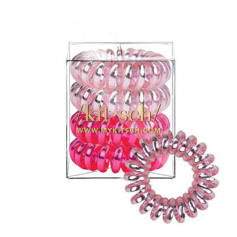 KITSCH - Crush Metallic Hair Coils - Pack of 4