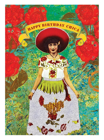 PAPAYA! - Greeting Card - Happy Birthday Chica!