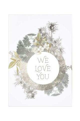 "PAPAYA! - Mini Greeting Card - ""We Love You"""