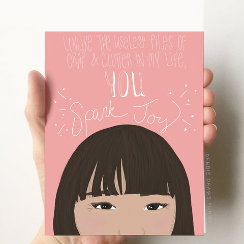 Debbie Draws Funny - NEW! Spark Joy Funny Encouragement Card Funny Thank you card