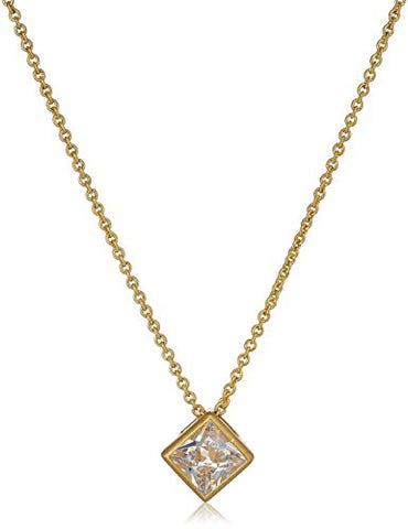 NICOLE MILLER 'Artelier' Burnished Gold Pyramid CZ Pendant Necklace