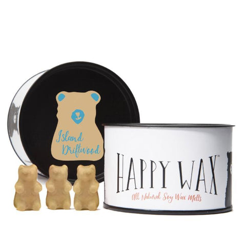 Happy Wax - Classic Tin - Island Driftwood Happy Wax Bears
