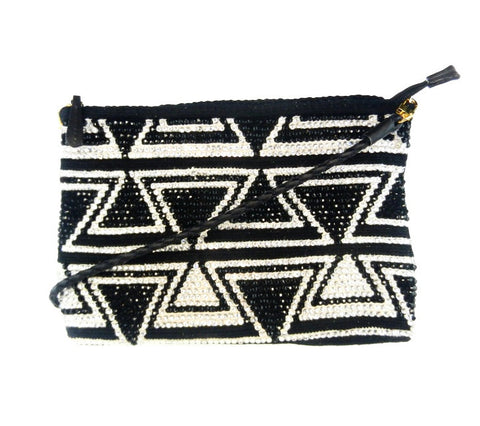 LUXCHILAS 'CLUTCHCHILA' BLACK AND WHITE CLUTCH