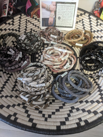 Aid Through Trade Assorted Beaded Woven Roll-On Fair Trade Bracelets