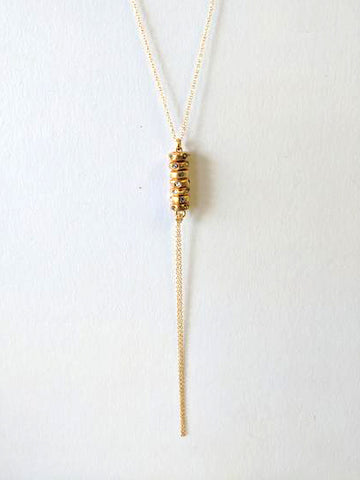 "Rebel Designs ""Stacked""  Swarovski Crystal Tassel Y-Necklace"