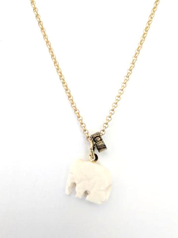 Cheryl Dufault Elephant Charm Necklace