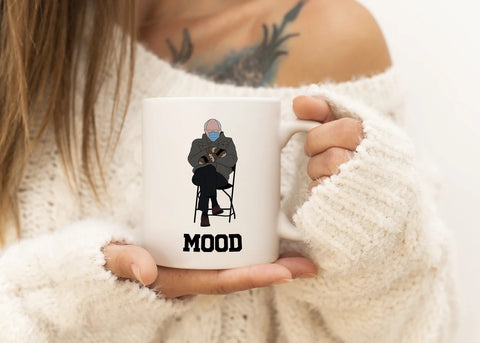 The Clever Mess - Bernie Mittens Mood Mug