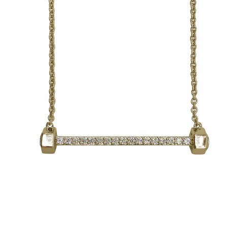 NICOLE MILLER 'Artelier' Bolt Bar Necklace