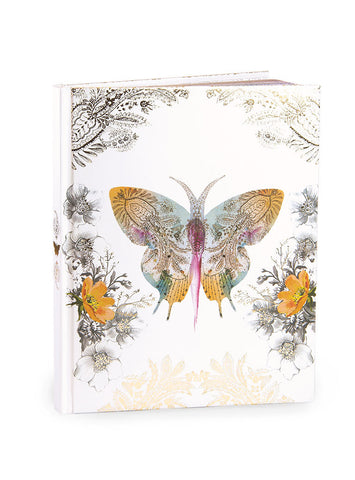 PAPAYA! - Journal - Gold Foil Paisley Butterfly