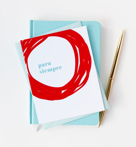 Graphic Anthology - Para Siempre Wedding Card