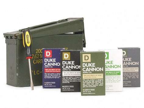 Duke Cannon - Authentic Ammo Can Gift Set Featuring Top Soap Selection and Stanely Screwdriver