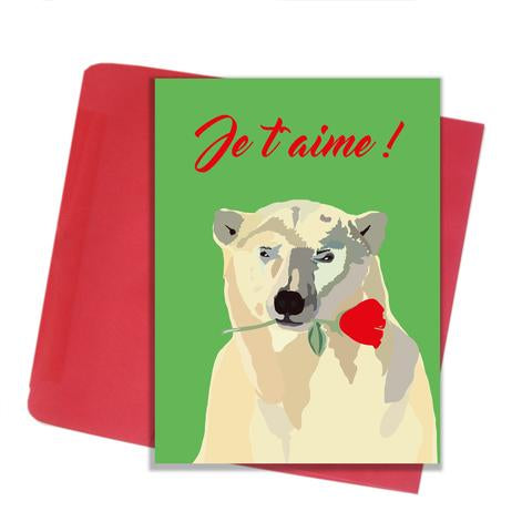 "Lili Graffiti ""BEAR"" Love You Greeting Card"