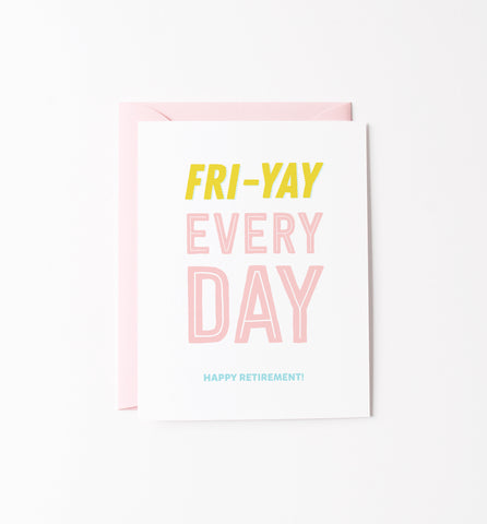 Graphic Anthology - Fri-Yay retirement card