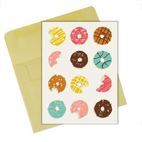 "Lili Graffiti ""Donuts"" Blank Greeting Card"